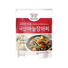 Jongga Assorted Garlic Pickle With Chili Paste 150g