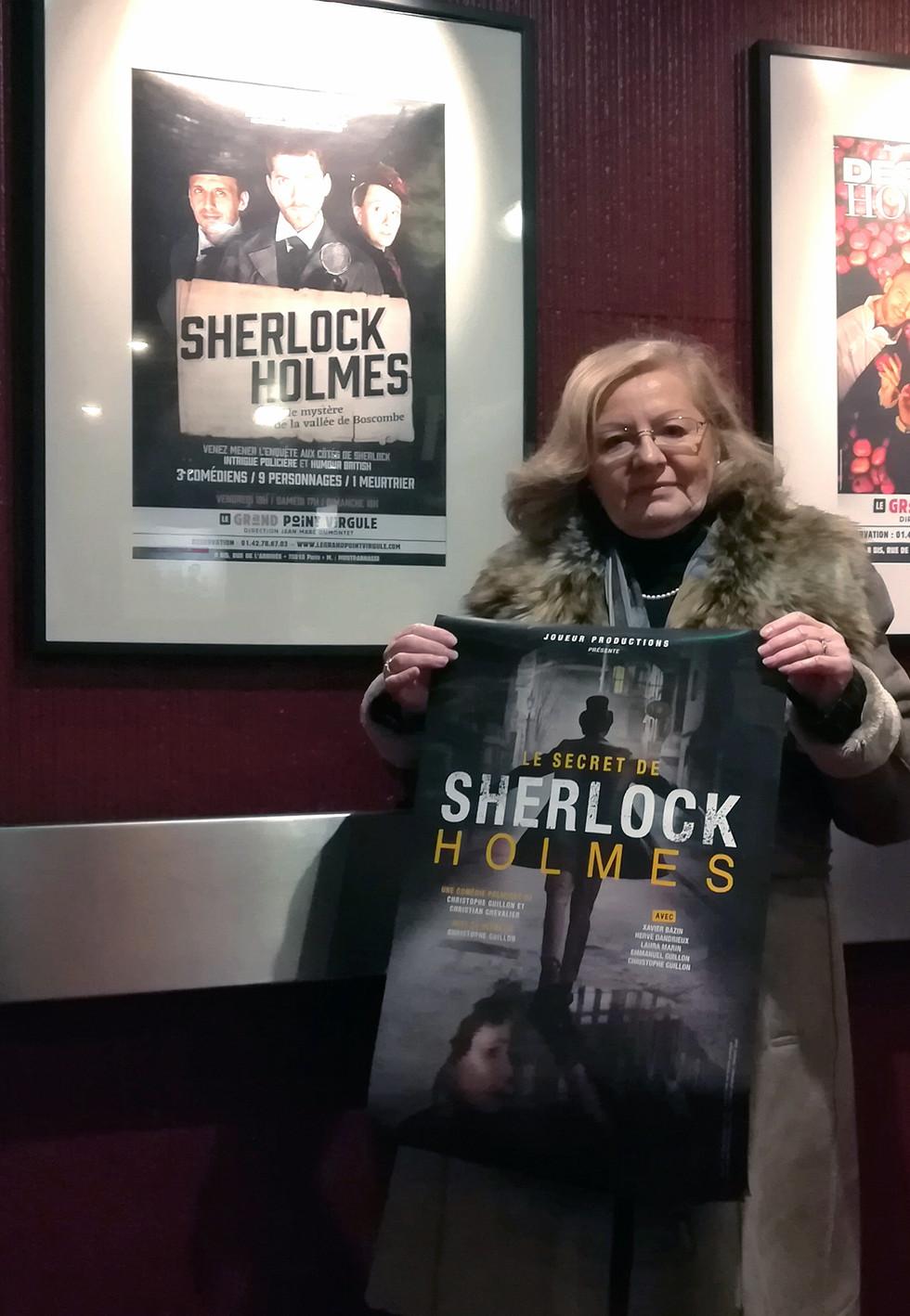 Théâtre - Le Secret de Sherlock Holmes, vue par Martine Ruzé-Moëns