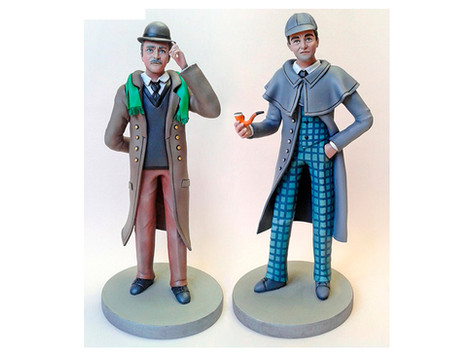 Figurines Brett et Burke (22 cm)