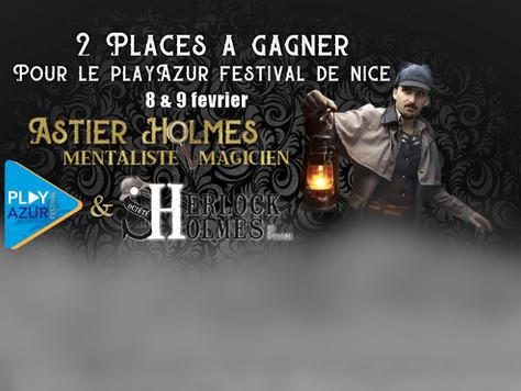 Nice - Magie et mentalisme avec Sherlock Holmes, les 8 & 9 février au Play Azur Festival