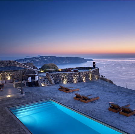 Santorini Villa with Zephyr Travel Curat
