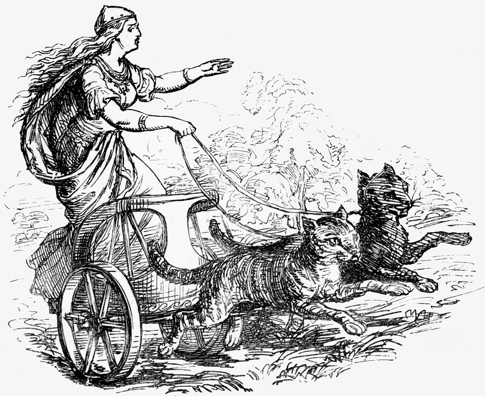 Freya and her Cat Chariot
