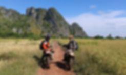 Dirt Bike River Crossing in Kampot Province