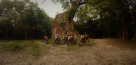 Stone Faces of Angkor Dirt Bike Off-Road Guided Tour Motorcycle Adventure