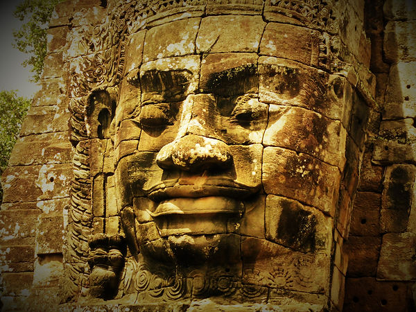 Stone Face of Bayon Temple
