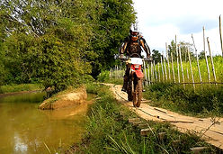 Dirt Bike River Kampot Caving Tour Crossing in Kampot Province