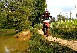 Dirt Bike River Kampot Caving Tour Crossing in Kampot Province