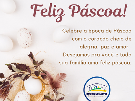 A administração municipal deseja a todos uma Feliz Páscoa!