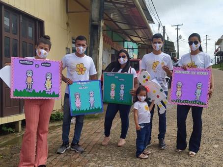 CRAS e SCFV levaram a temática da campanha maio laranja aos seus públicos trabalhados