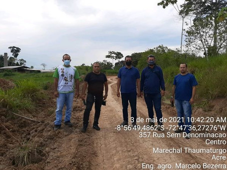 Prefeitura de Marechal Thaumaturgo inicia os trabalhos de reabertura e recuperação das estradas