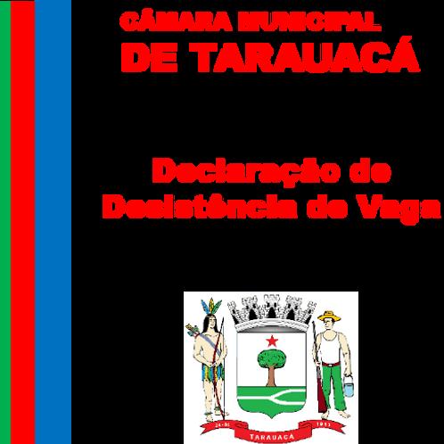 Declaração de Desistência de Vaga ( SAIONARA DE SOUZA BANDEIRA)
