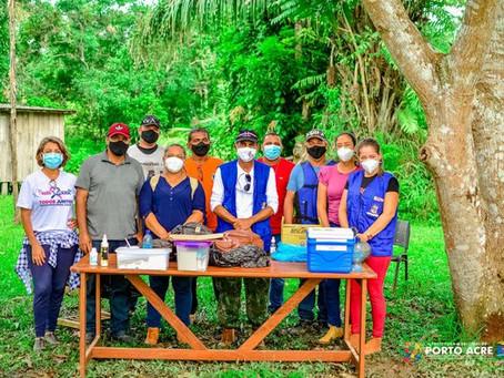 Prefeitura intensifica vacinação a comunidade ribeirinha do município