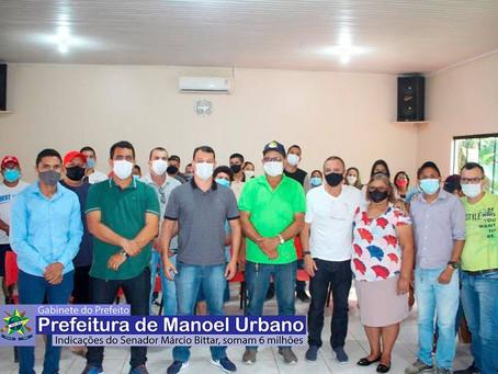 Prefeito agradece destinação de emendas parlamentares a Manoel Urbano