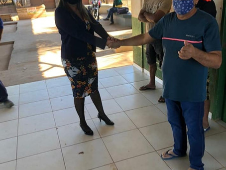 Vereadora fiscaliza o serviço de manutenção da rodoviária municipal