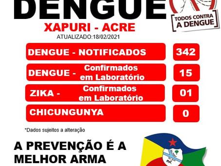 Boletim Dengue, atualizado em 18 de Fevereiro de 2021