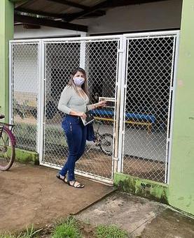 Vereadora vistoria a Escola Núbia Maria