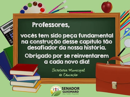 Prefeito André Maia agrade professores da rede municipal de ensino