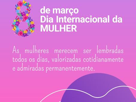 Câmara parabeniza as mulheres nesta data especial, feliz 8 de março