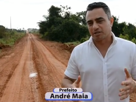Prefeito André Maia mostra ramais que estão sendo abertos para benefícios da população