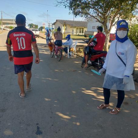 Prefeitura de Feijó fiscaliza o uso de máscara em parceria com corpo de bombeiros e polícia militar
