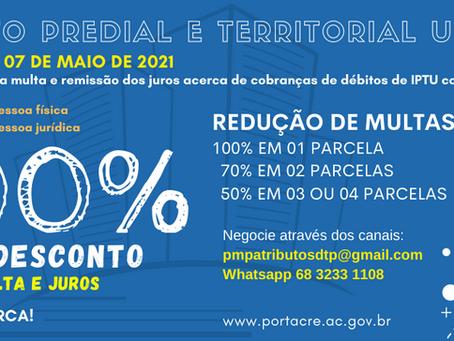 Facilidade: Parcele seu IPTU em até 4 vezes, descontos de 100% a 50% sob os juros e multa