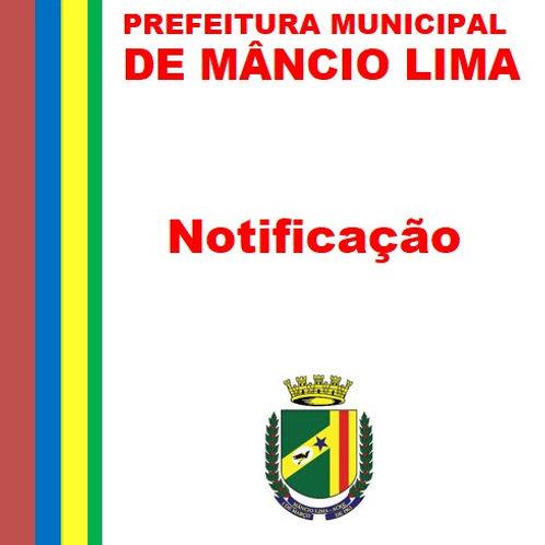 Notificação - RECEBIMENTO DE RECURSOS DA UNIÃO FEDERAL  R$ 180.000,00