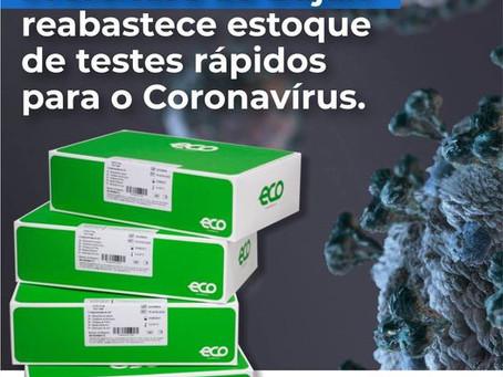 Prefeitura de Bujari comunica reabastecimento de testes para o covid-19