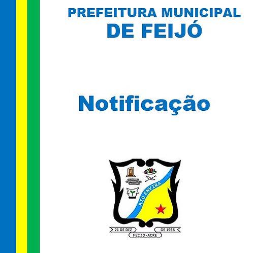 Notificação -  Sr. Geremias de Souza Frota, Arquiteto e Urbanista