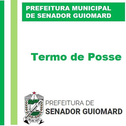 Termo de Posse - Prefeita e Vice-Prefeito 2021-2024