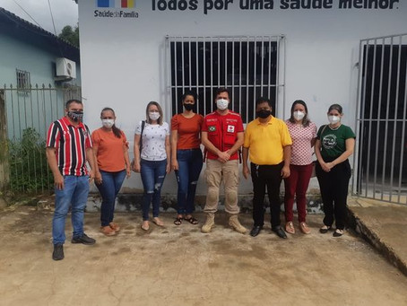 Manoel Urbano recebe donativos (cestas básicas e kits de limpeza) da Cruz Vermelha Nacional