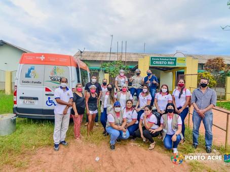 Vila Caquetá e Vila Pia recebem atendimento Ação Integrada da Prefeitura de Porto Acre