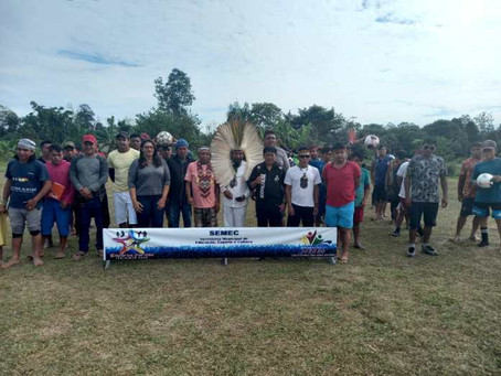 Ação  da prefeitura leva atividade  esportiva e atendimento a comunidades indígenas