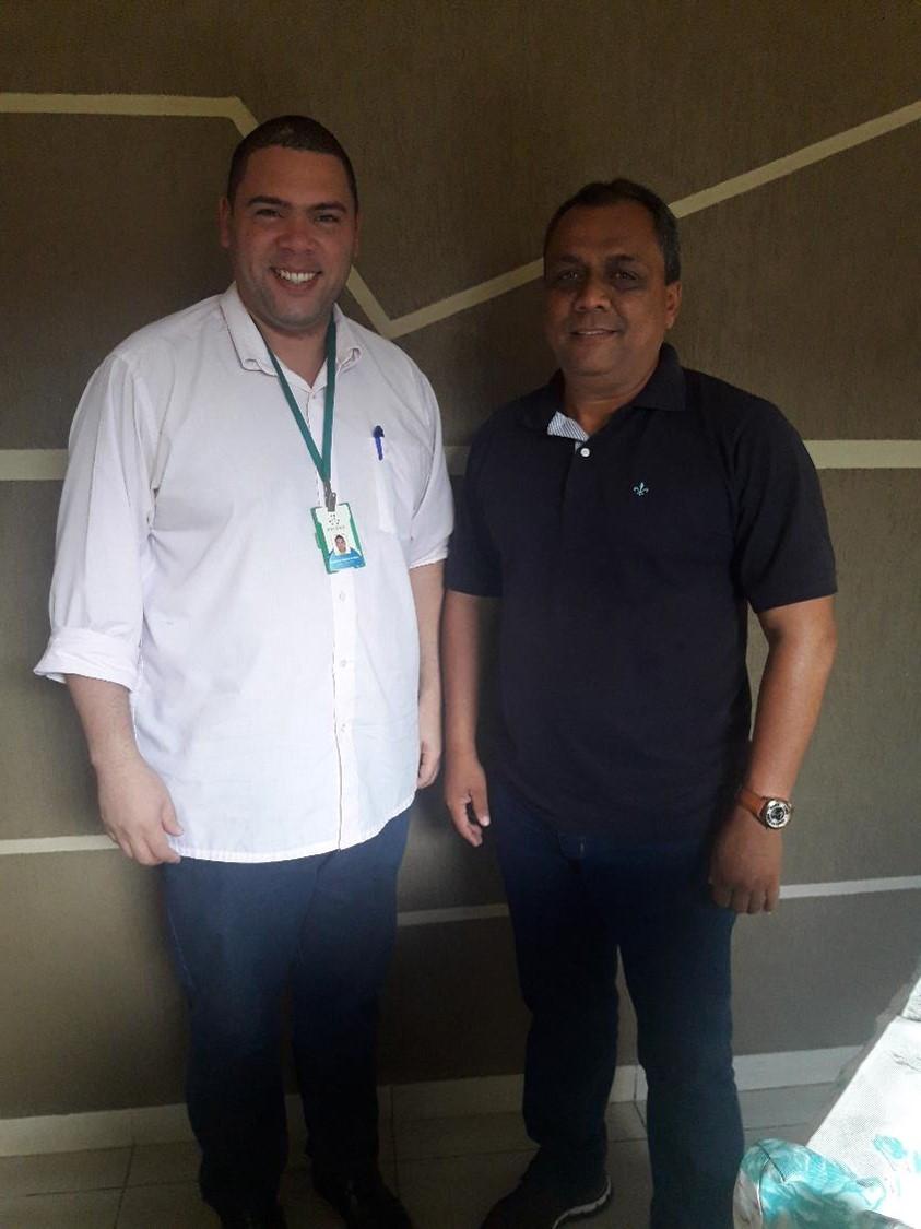 Diretor da Decorp, Prof. Demétrios e Chefe de Gabinete Aldjames