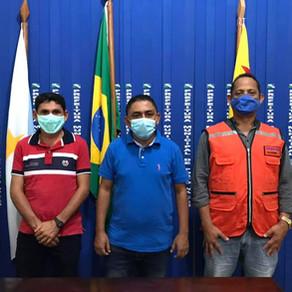 Prefeito e Vice reúnem com Defesa Civil Estadual e definem ações emergências de socorro
