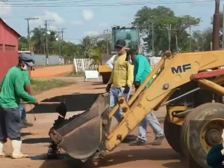 Prefeitura intensifica os serviços de limpeza de ruas e terrenos baldios e recuperação de ramais