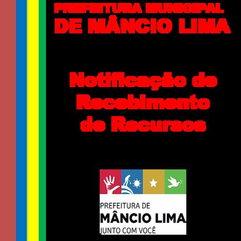 Notificação - RECURSOS DA UNIÃO FEDERAL - 1ª Parcela R$ 97.620,00