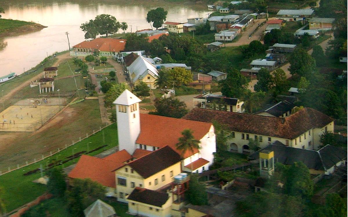 Vista aérea da igreja