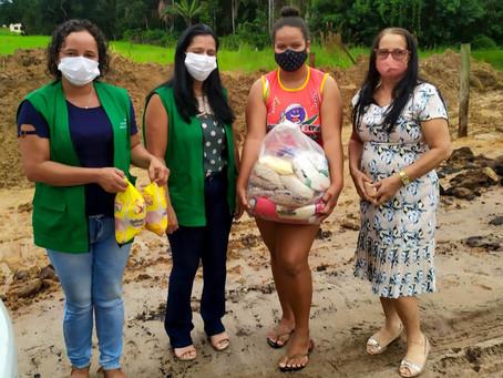 Famílias em situação mais vulnerável são contempladas com cestas básicas em Rodrigues Alves