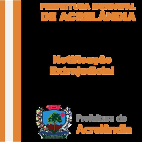 Notificação Extrajudicial - COMERCIAL ARAUJO EIRELLI – ME