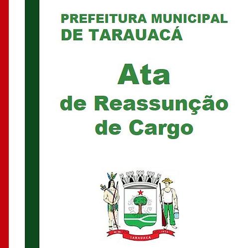 Ata de Reassunção de Cargo - 16 de Dezembro de  2019