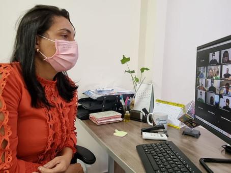 Prefeita participa de videoconferência com especialistas da Sesacre e Comitê da Covid-19