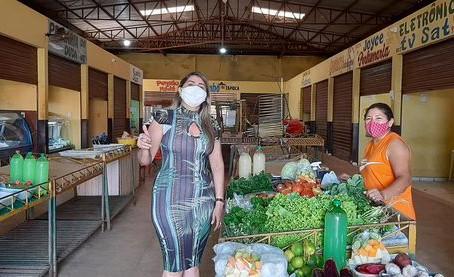 Vereadora reivindica melhorias para o mercado municipal guiomarense
