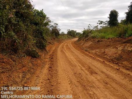 Prefeitura recupera 5 km do ramal Cafuba