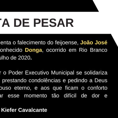 Nota de Falecimento: João José Montefusco Pinheiro