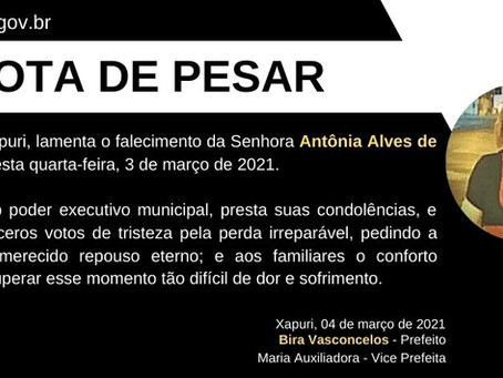 Nota de Pesar: Antônia Alves de Abreu