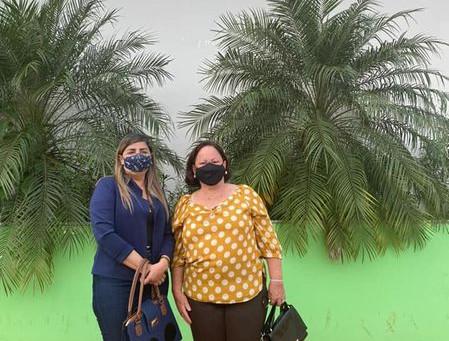 Vereadora Reginalda e Vanda Milani visitam prefeita Rosana Gomes