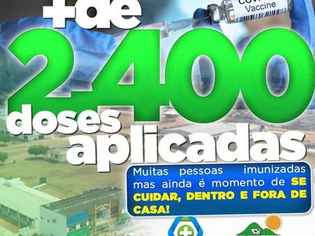 Acrelândia atinge aplicação de mais de 2,4 mil doses na população