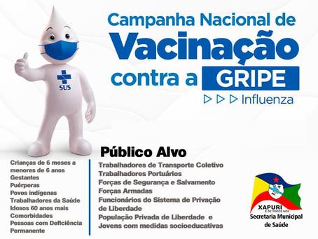 Vacinação: Campanha de imunização contra a gripe Influenza, participe!