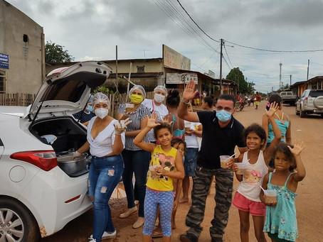 Vereadores levam esperança as famílias do bairro Chico Paulo e promovem sopão solidário