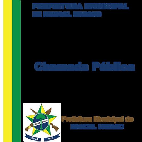 CHAMADA PUBLICA - Nº 001/2020 - Gêneros alimentícios